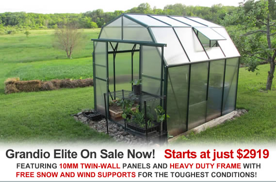 grandio elite greenhouse sale
